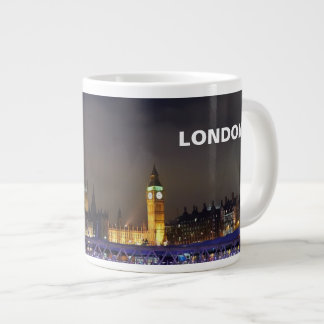 London UK  Night Landscape London Eye View Large Coffee Mug