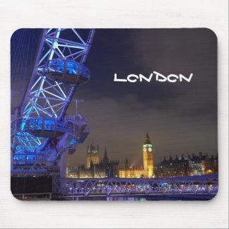 London UK Night Landscape London Eye View Mouse Pad