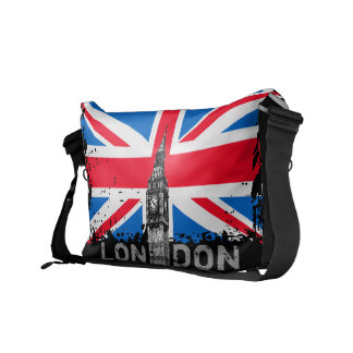 London UK Union Jack Flag Messenger Bag