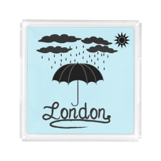 London | Under An Umbrella Acrylic Tray