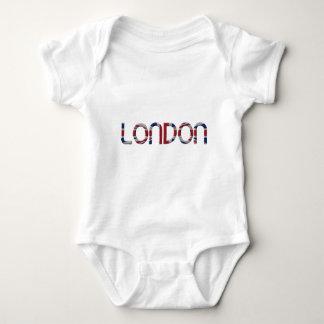 London Union Jack British Flag Typography Elegant Baby Bodysuit