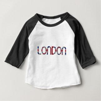 London Union Jack British Flag Typography Elegant Baby T-Shirt