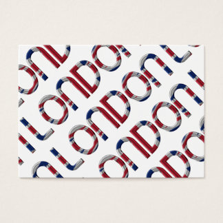 London Union Jack British Flag Typography Elegant Business Card