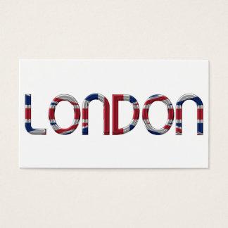 London Union Jack British Flag Typography Elegant Business Card