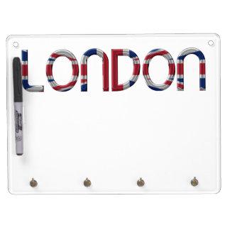 London Union Jack British Flag Typography Elegant Dry-Erase Board