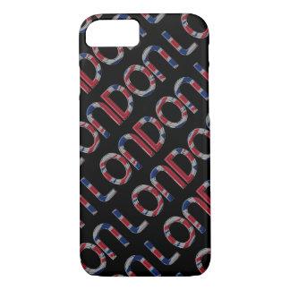 London Union Jack British Flag Typography Elegant iPhone 8/7 Case