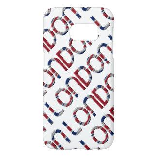London Union Jack British Flag Typography Elegant Samsung Galaxy S7 Case