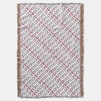 London Union Jack British Flag Typography Elegant Throw Blanket