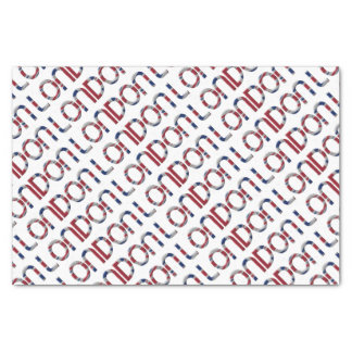 London Union Jack British Flag Typography Elegant Tissue Paper