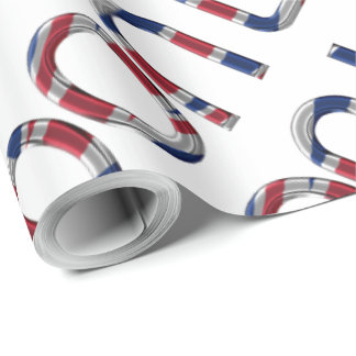 London Union Jack British Flag Typography Elegant Wrapping Paper