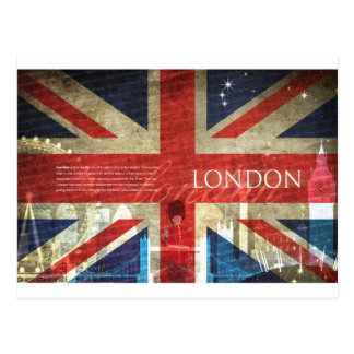 London Union Jack Postcard