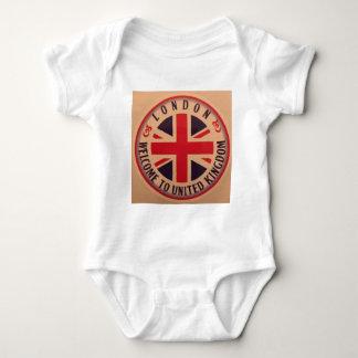 London - Union Jack - Welcome to United Kingdom Baby Bodysuit