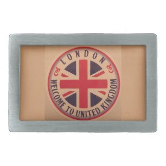 London - Union Jack - Welcome to United Kingdom Belt Buckle