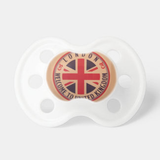 London - Union Jack - Welcome to United Kingdom Pacifier