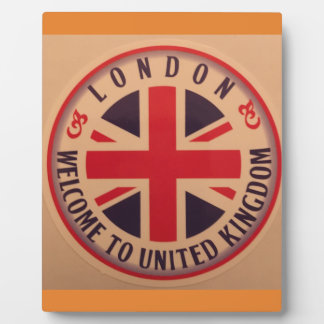 London - Union Jack - Welcome to United Kingdom Plaque