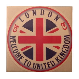 London - Union Jack - Welcome to United Kingdom Tile