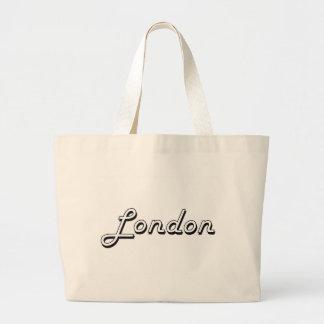 London United Kingdom Classic Retro Design Large Tote Bag