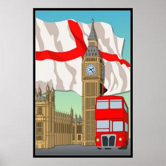 London Vecter Art Wall Poster/Framed Print