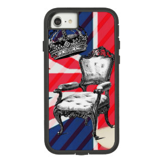 London victorian chair jubilee crown union jack Case-Mate tough extreme iPhone 8/7 case