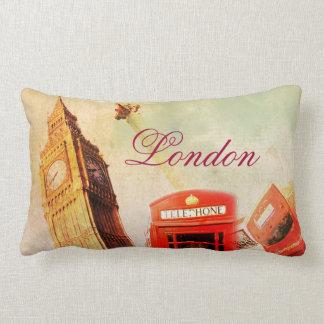 London vintage lumbar pillow