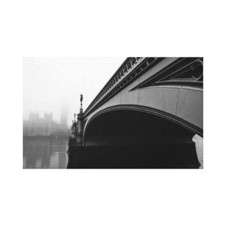 London Westminster Bridge in Thick Fog canvas