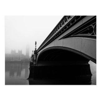 London Westminster Bridge in Thick Fog postcard