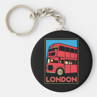 london westminster england art deco retro poster basic round button keychain