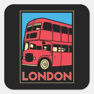 london westminster england art deco retro poster square sticker
