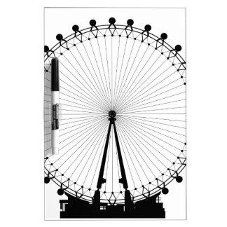 London Wheel Silhouette Dry Erase Board