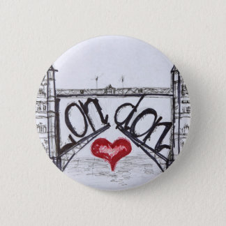 London with love 2 inch round button
