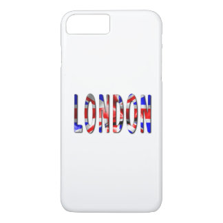 London Word With Flag Texture iPhone 7 Plus Case
