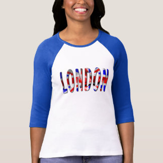 London Word With Flag Texture Women's T-Shirt