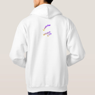 London world city, colorful text art hoodie