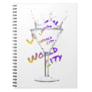 London world city, water Glass Notebooks
