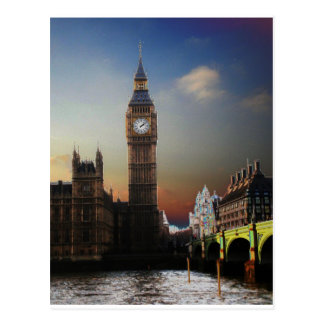 London's Big Ben Solarised Postcard