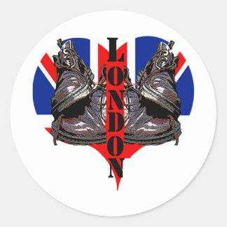 londons calling! classic round sticker