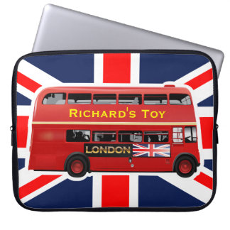 London's Famous Red Bus Laptop Sleeve