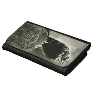 London's Gothic Raven Leather Wallet