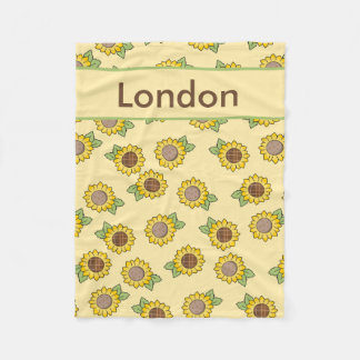 London''s Personalized Sunflower Blanket