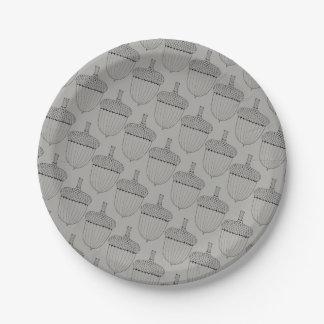 Lone Acorn Paper Plate