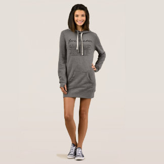 Lone Beader Definition Women's Hoodie Dress