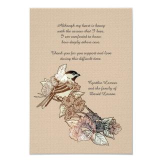 Lone Bird Bereavement Thank You Notecard (3.5 x 5)