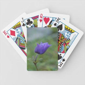 Lone Blue-Purple Anemone Bicycle Playing Cards