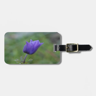 Lone Blue-Purple Anemone Luggage Tag
