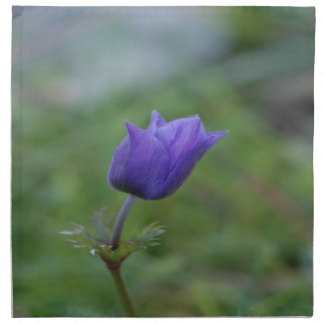 Lone Blue-Purple Anemone Napkin