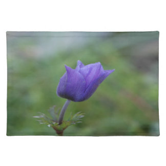 Lone Blue-Purple Anemone Placemat