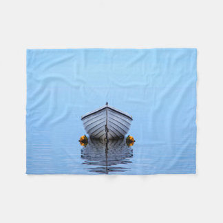 Lone Boat Fleece Blanket