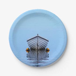 Lone Boat Paper Plate