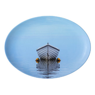 Lone Boat Porcelain Serving Platter
