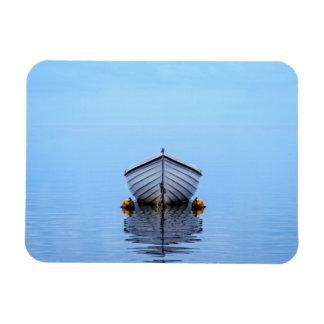 Lone Boat Rectangular Photo Magnet